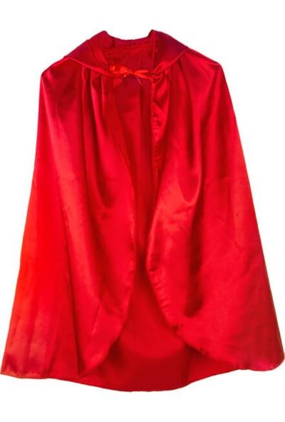 Partifabrik Halloween Kapşonlu Kırmızı Pelerin 90cm