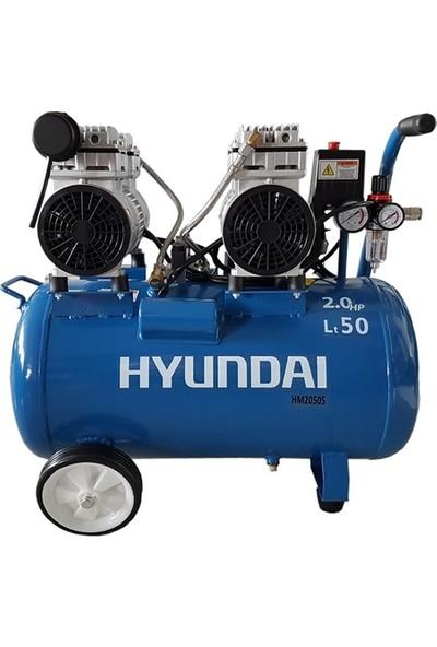 Hyundai Kompresör Sessiz & Yağsız 1500W 50 Lt