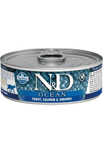 N&D Ocean Alabalık,Somon,Karides Yetişkin Kedi Konservesi 80 gr