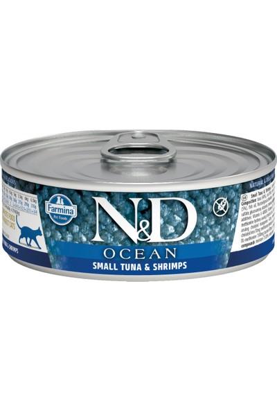 N&D Ocean Ton Balığı & Karides Kedi Konservesi 80 gr (12 Adet)