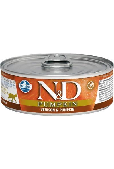 N&D Balkabağı & Geyik Kedi Konservesi 80 gr (12 Adet)