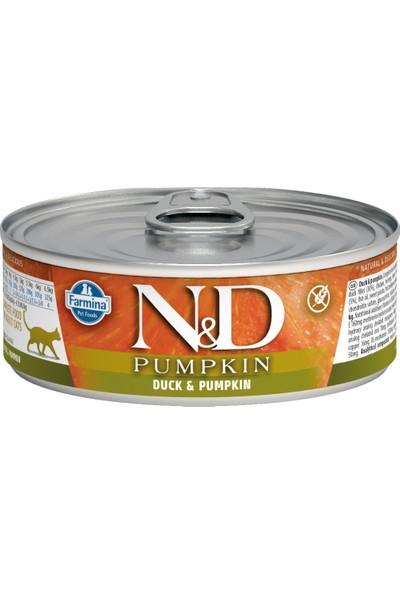 N&D Balkabağı & Ördek Kedi Konservesi 80 gr (12 Adet)