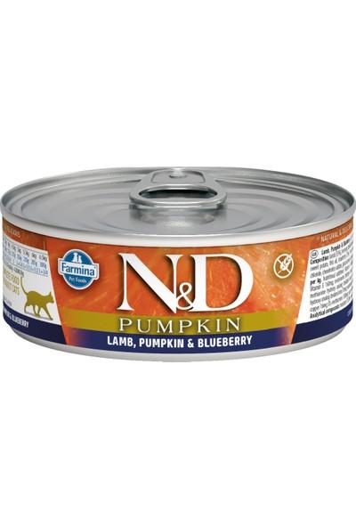 N&D Balkabağı,Kuzu,Yaban Mersini Yetişkin Kedi Konservesi 80 gr