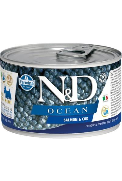 N&D Ocean Somon & M.Balığı Köpek Konservesi 140 gr (6 Adet)