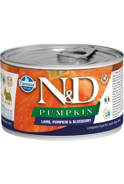 N&D Balkabağı & Y.Mersini-Kuzu Köpek Konservesi 140 gr (6 Adet)