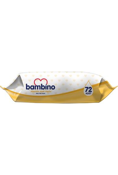 Bambino Islak Havlu 72'li - Sarı