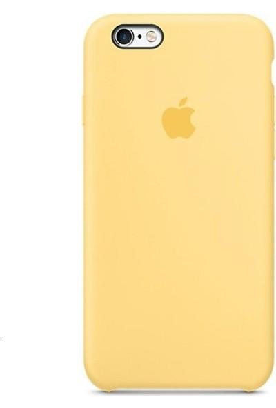 Graytiger Apple iPhone 6/6S Sarı Silikon Kılıf Kauçuk Arka Kapak