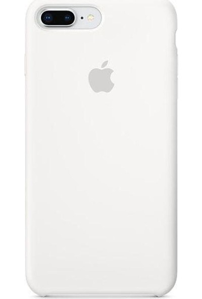 Graytiger Apple iPhone 8 Plus Beyaz Silikon Kılıf Kauçuk Arka Kapak