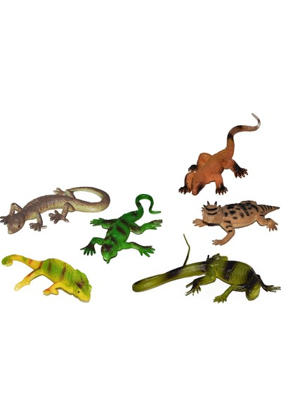 Yeşil Oyuncak Hayvan Seti Sürüngenler Vahşi Hayvanlar Seti