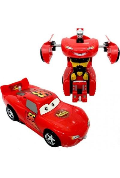 Can Oyuncak Robota Dönüşen Çek Bırak Araba
