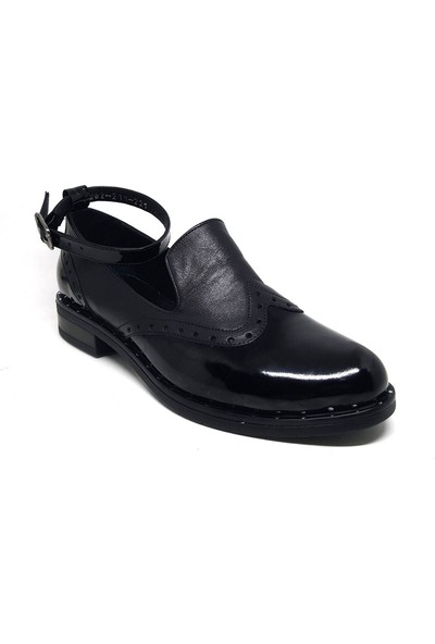 Shop And Shoes 212-1062 Kadın Ayakkabı Siyah Rugan