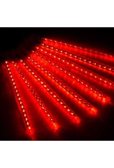 Foblight Led Meteor Seti Kırmızı 50 cm 8'li İç Mekan