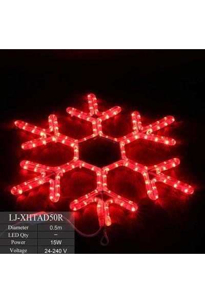 Foblight Led Kar Tanesi Kırmızı 35x35 Cm Dış Mekan
