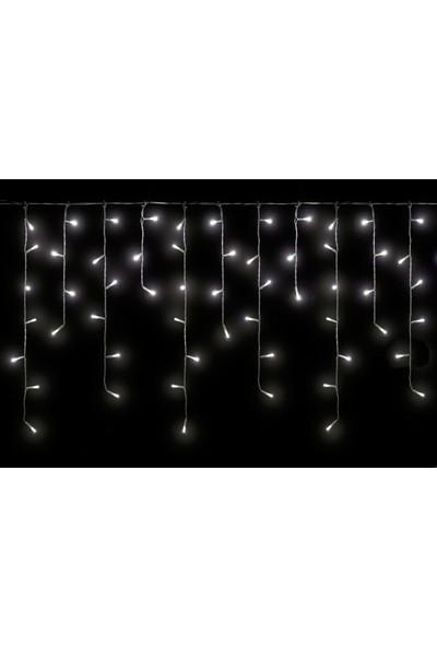 Foblight Led Perde Çakarlı Saçak Beyaz 2 mt x 60-80-100 cm