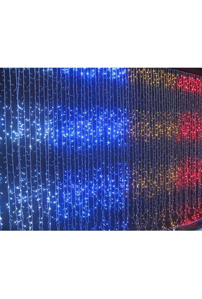 Foblight Led Perde Akar Mavi 2x3 Mt 480 Ledli