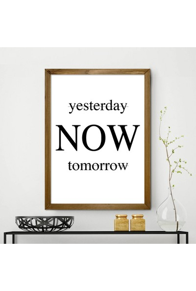 Vetro Design Yesterday Now Tomorrow Ahşap Çerçeveli Tablo