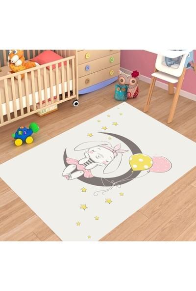 Karnaval Hayalci Tavşan Çocuk Odası Halısı