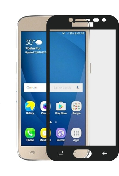 Microcase Samsung Galaxy J2 Pro 2018 Tam Kaplama Çerçeveli Tempered Cam