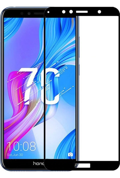 Microcase Huawei Honor 7C Tam Kaplama Çerçeveli Tempered Cam