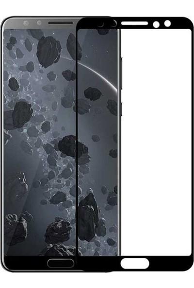 Microcase Huawei Nova 2s Tam Kaplama Çerçeveli Tempered Cam