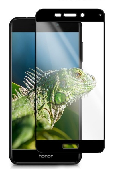 Microcase Huawei Honor 6C Pro Tam Kaplama Çerçeveli Tempered Cam
