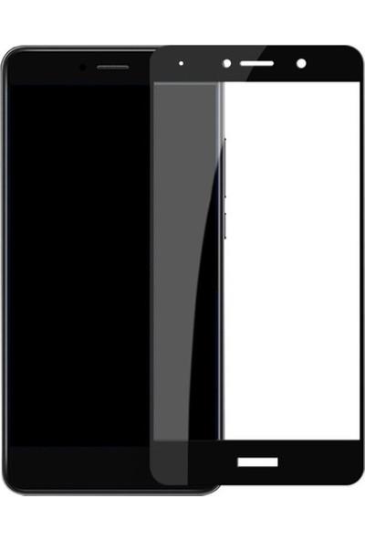 Microcase Huawei Y7 Prime Tam Kaplama Çerçeveli Tempered Cam