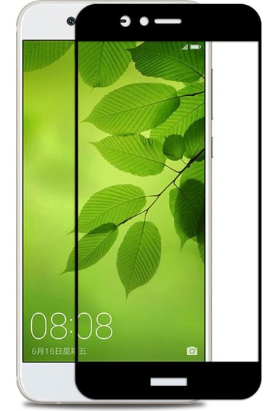 Microcase Huawei Nova 2 Plus Tam Kaplama Çerçeveli Tempered Cam