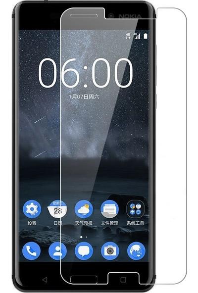 Microcase Nokia 6 2018 Tempered Glass Cam Ekran Koruma