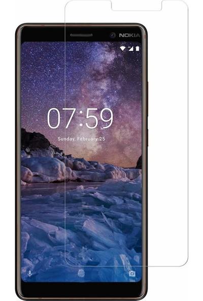 Microcase Nokia 7 Plus Tempered Glass Cam Ekran Koruma