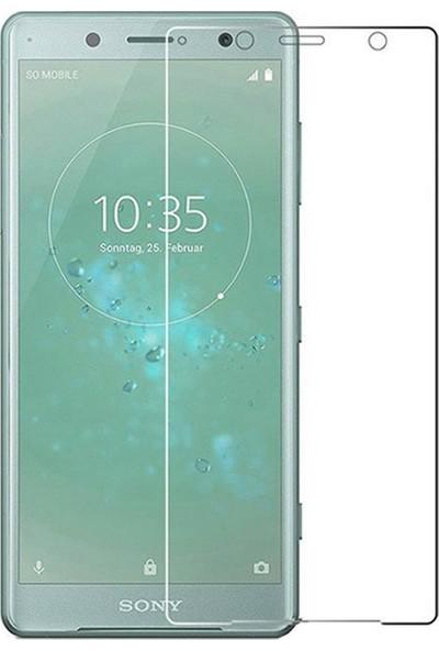 Microcase Sony Xperia XZ2 Compact Tempered Glass Cam Ekran Koruma