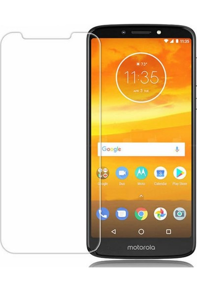 Microcase Motorola Moto E5 Plus Tempered Glass Cam Ekran Koruma
