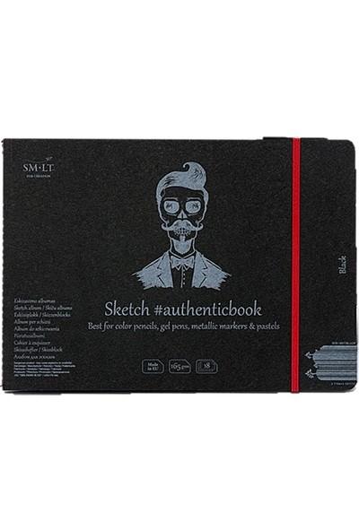 Sm.Lt Stitched Album Black 24,5X18,5 18Yp 165Gr