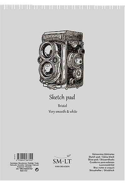 Sm.Lt Sketch Pads Authentic Bristol A5 30Yp 185Gr