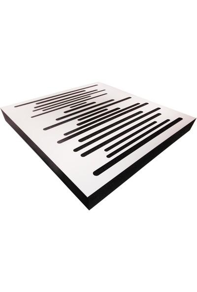 Center Acoustic Akustik Ahşap Difüzör Panel 60X60 Cm Beyaz