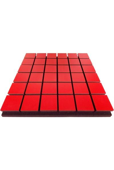 Center Acoustic Akustik Kare Sünger 5 Cm Kırmızı 49X49 Cm