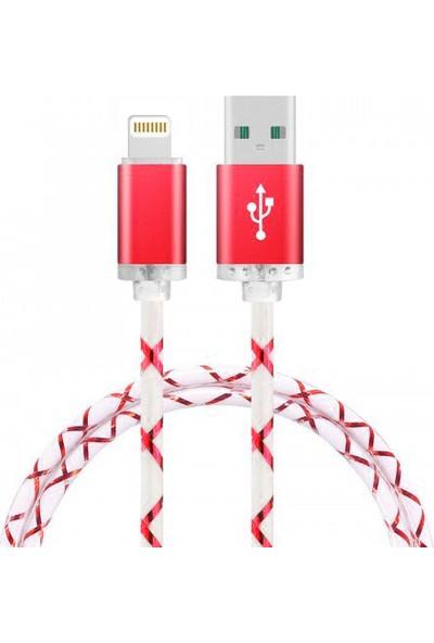 Twinix Lightning USB Şarj Kablosu - Kırmızı