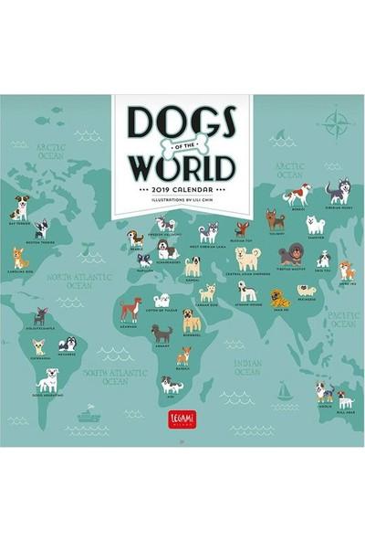 Legami Takvim Duvar 2019 30X29 Köpeklerin Dünyası