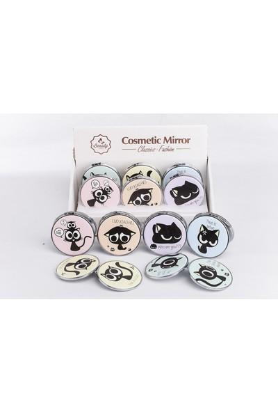 Mukko Home Kedi Mini Makyaj Aynası 4lü Set