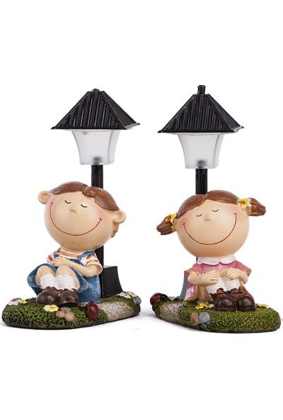 Mukko Home lambalı Öğrenci Biblo Set / Okuma lambası 14 cm