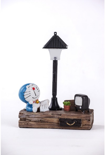 Mukko Home lambalı Mavi Kedi Biblo 17 cm