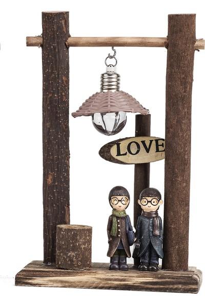 Mukko Home lambalı Sevgili Biblo 22 cm