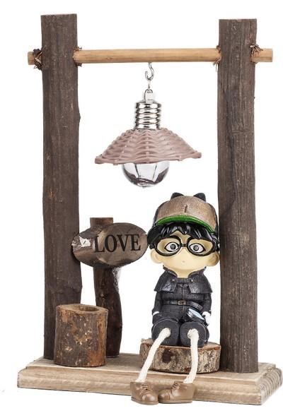 Mukko Home lambalı Dedektif Biblo 22 cm