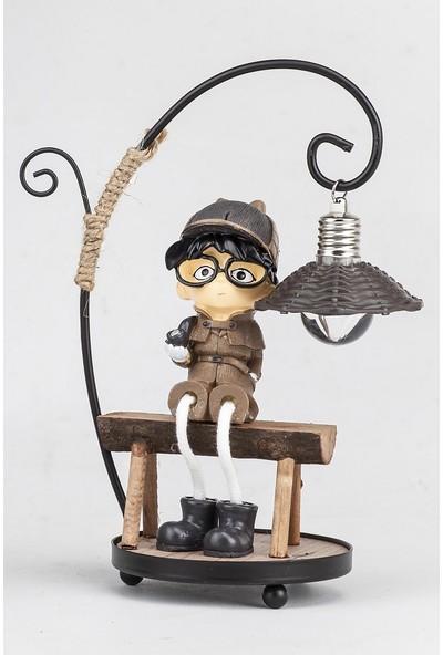 Mukko Home Minik Dedektif lambalı Biblo 20 cm