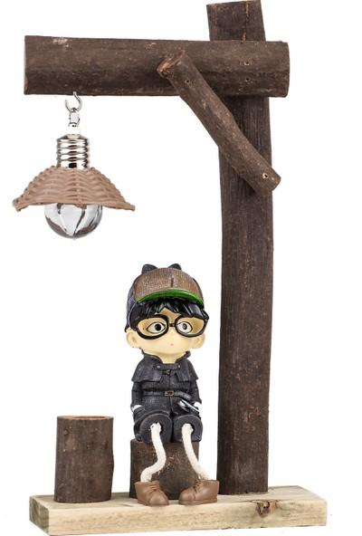 Mukko Home lambalı Dedektif Biblo 25 cm