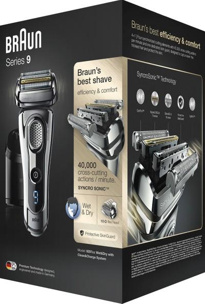 Braun 9 Serisi 9297 CC Islak ve Kuru Sakal Yogunlugu Okuma Özellikli Temizleme ve Şarj Üniteli Tıraş Makinesi