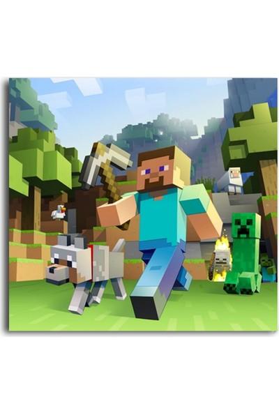 Tablo Kanvas Minecraft - Steve ve Creeper Tablo