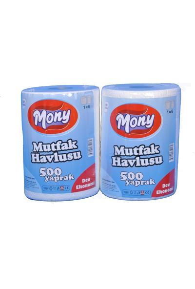 Mony Mutfak Havlusu 500 Yaprak 500 gr X 6 Rulo ( Dev Ekonomi )