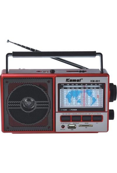 Kamal Km-901 Kırmızı Şarjlı MP3 Radyo
