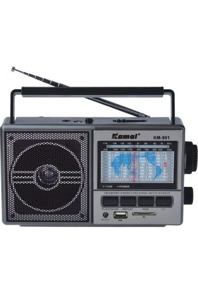Kamal Km-901 Siyah Şarjlı MP3 Radyo