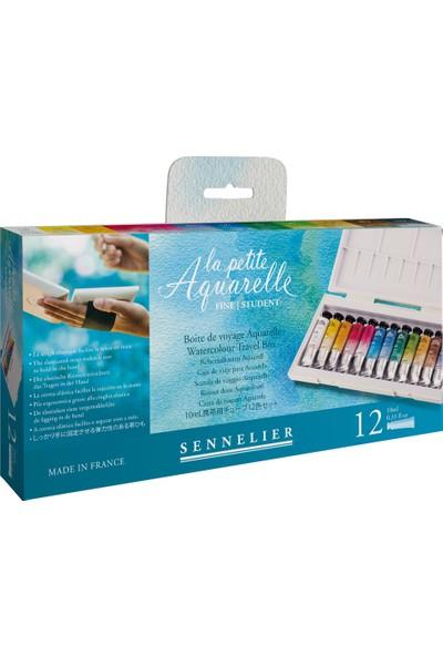 Sennelier Sennelier Aquarelle 12 Renk Tüp Suluboya Set - 12x10ml